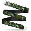 Rex Silhouette Full Colot Black/Blue/Green Seatbelt Belt - Buzz Poses/Stars LIKE A BUZZ Webbing