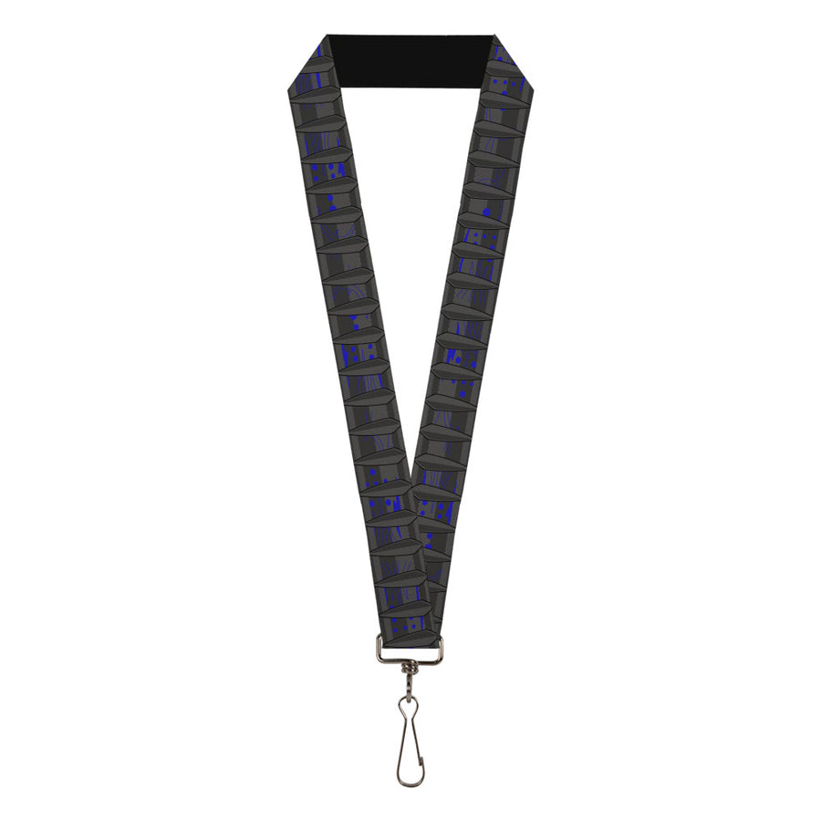 "MARVEL AVENGERS Lanyard - 1.0"" - Black Panther Claw Repeat Grays Black Purple"