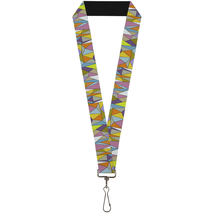 "Lanyard - 1.0"" - Stained Glass Mosaic Multi Color"