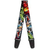 MARVEL AVENGERS Guitar Strap - Marvel Avengers Superheroes CLOSE-UP
