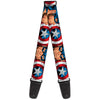 MARVEL AVENGERS Guitar Strap - Captain America Face Turns Shield CLOSE-UP