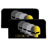 Canvas Snap Wallet - C6 Racing w Skull Repeat Black Yellow Silver