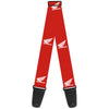 Guitar Strap - HONDA Motorcycle Logo Red White