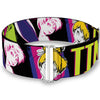 Cinch Waist Belt - TINK LUXE Sketch Black Multi Neon
