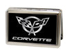 Business Card Holder - LARGE - Corvette FCG Black Silver