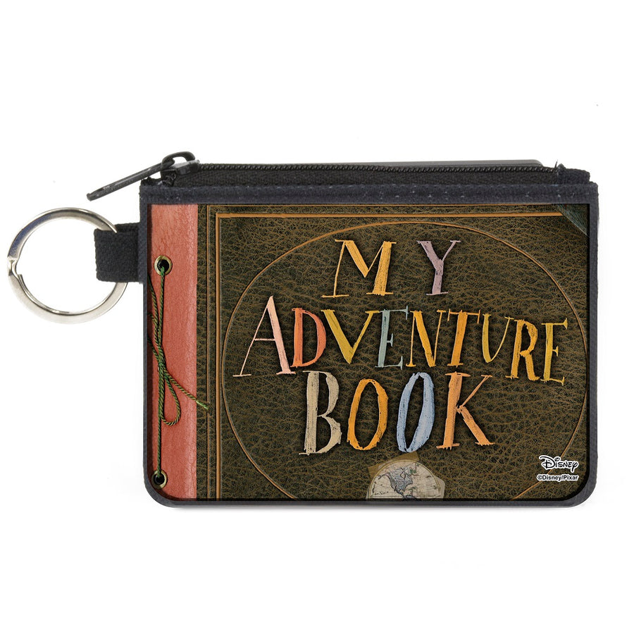 Canvas Zipper Wallet - MINI X-SMALL - Up MY ADVENTURE BOOK Cover