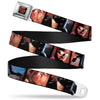 Arkham City Snowflake Full Color Black Red Seatbelt Belt - Batman Arkham City 3-Character/2-Scene Panels Webbing