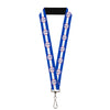 "Lanyard - 1.0"" - SHELBY Tiffany Split Stripe Blue White Red"
