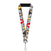 "Lanyard - 1.0"" - Princess Pose Princess & Prince Scene Grays Multi Color"