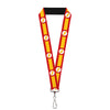 "Lanyard - 1.0"" - The Flash Logo7 Stripe Red White Yellow"