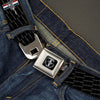 FORD MUSTANG Tri-Bar Logo Full Color Black White Silver Red Blue Seatbelt Belt - Ford Mustang w/Bars REPEAT w/Text Webbing