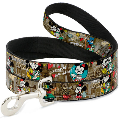 Dog Leash - Mickey & Minnie Croissant de Triomphe Scenes