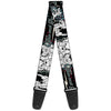 Guitar Strap - TOM & JERRY Face & Pose Sketch Black White Red Blue