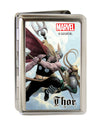 MARVEL UNIVERSE Business Card Holder - LARGE - THOR Battling Loki Pose Clouds FCG
