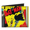 Canvas Bi-Fold Wallet - Classic BATMAN Issue #1 Robin & Batman Logo CLOSE-UP Cover Pose