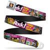 Pebbles Face1 Full Color Black Seatbelt Belt - The Flintstones Tabloid - ROCK! PEBBLES OUT OF CONTROL Webbing