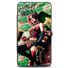 Hinged Wallet - HARLEY QUINN Hammer Pose Joker Face Arkham Asylum Secret Origins Issue #4 Cover