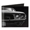 Canvas Bi-Fold Wallet - 1976 Challenger Black & White