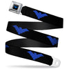 Nightwing Logo Full Color Black Blue Seatbelt Belt - Nightwing Logo Black/Blue Webbing