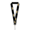 "Lanyard - 1.0"" - CHEVROLET Bowtie Logo Black Silver Gold White REPEAT"