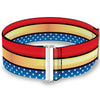 Cinch Waist Belt - Wonder Woman Stripe Stars Red Gold Blue White