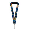 "Lanyard - 1.0"" - Kingdom Hearts 6-Character Pose Dark Blues"