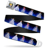 Cinderella CLOSE-UP Full Color Seatbelt Belt - Cinderella Transformation Blue Fade Webbing
