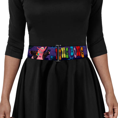 Cinch Waist Belt - BING BONG Poses Candy Purples Multi Color