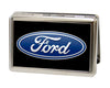 Business Card Holder - LARGE - Ford Oval Logo CENTERED FCG Black