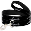 Dog Leash - IMPALA Script Emblem Black/Silver