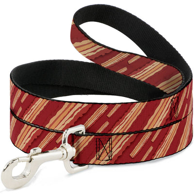 Dog Leash - Bacon Slices Red