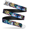 Buzz Lightyear Pose2 Full Color Black Seatbelt Belt - Buzz Lightyear Action Poses Stacked Webbing