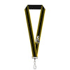 "Lanyard - 1.0"" - SUPER BEE Logo Stripes Black Yellow"