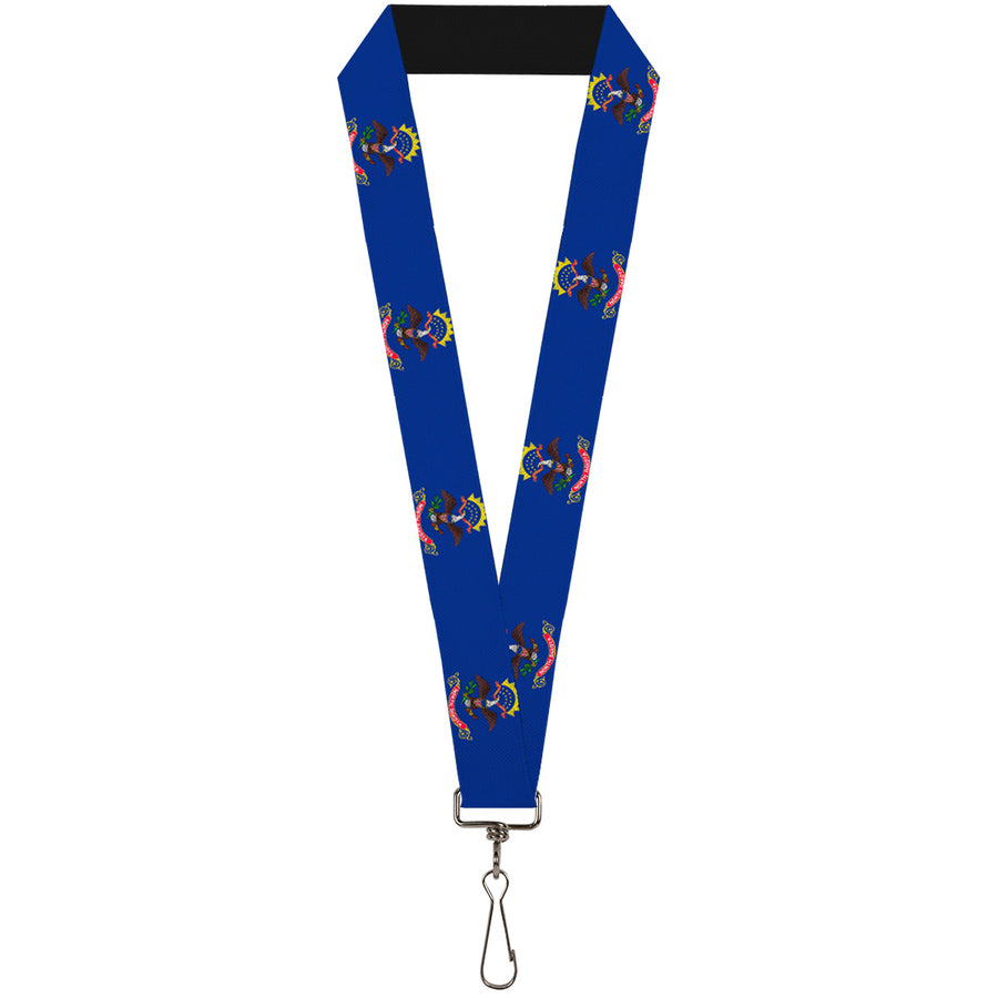 "Lanyard - 1.0"" - North Dakota Flags"