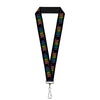 "Lanyard - 1.0"" - Dancing Skeletons Black Multi Color"
