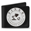 Bi-Fold Wallet - PIXAR ANIMATION STUDIOS Luxo Jr Lamp and Ball Icon Black White