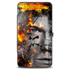 Hinged Wallet - SUPERNATURAL Sam + Dean Broken Faces CLOSE-UP Grays Flames