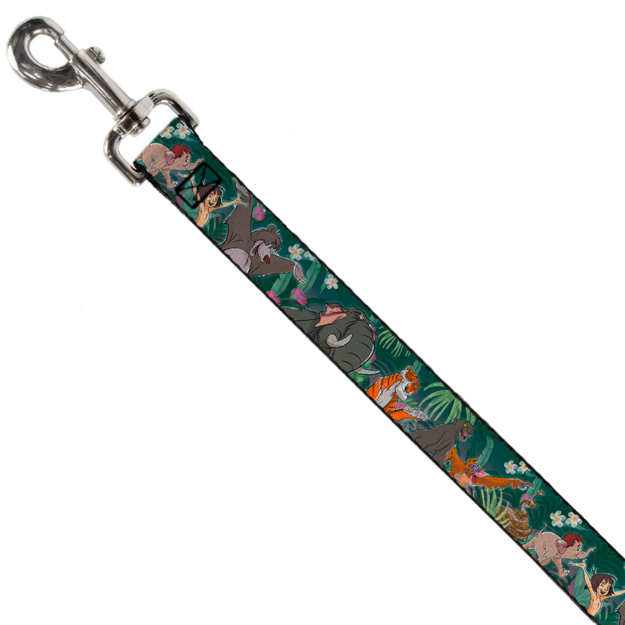 Dog Leash - The Jungle Book 8-Character Group Greens