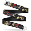 SEXY INK GIRLS Full Color Black White Seatbelt Belt - Jordan Webbing