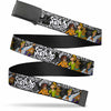 Black Buckle Web Belt - SCOOBY DOO Group Pose/Bones Webbing