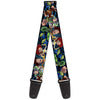 Guitar Strap - Toy Story Characters Running2 Denim Rays