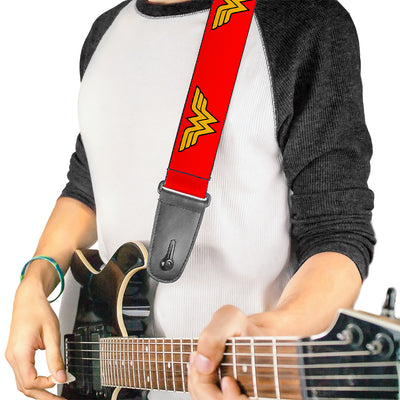 Guitar Strap - Wonder Woman Logo Red