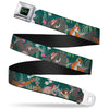 THE JUNGLE BOOK Full Color Black Green Seatbelt Belt - The Jungle Book 8-Character Group Greens Webbing