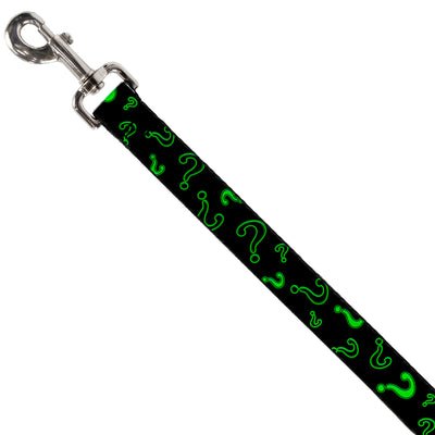 Dog Leash - Question Mark Scattere2 Black/Neon Green