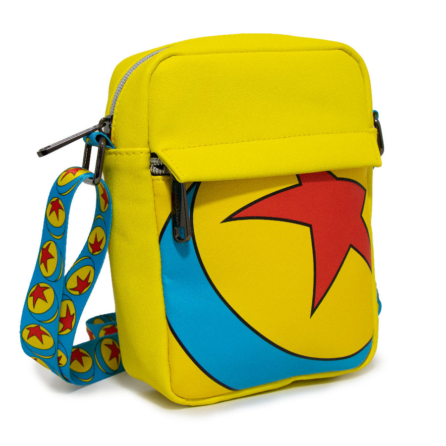 Women's Crossbody Wallet - Pixar Luxo Ball Yellow Blue Red