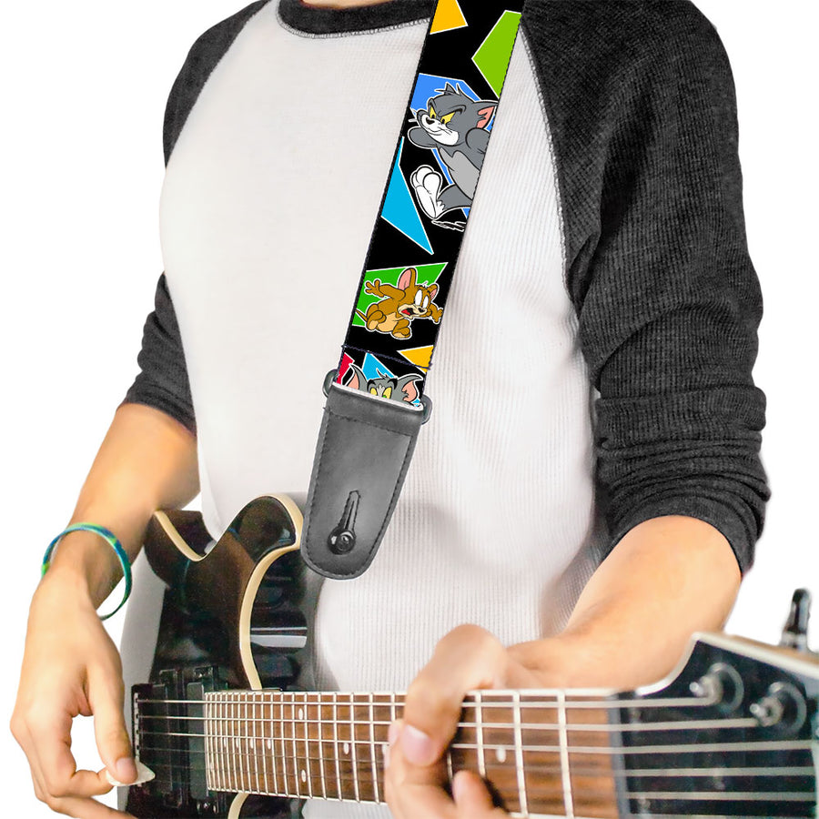 Guitar Strap - TOM & JERRY Poses Black Multi Color