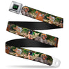 THE JUNGLE BOOK Full Color Black Green Seatbelt Belt - The Jungle Book I Wanna Be Like You 4-Character Scene Webbing
