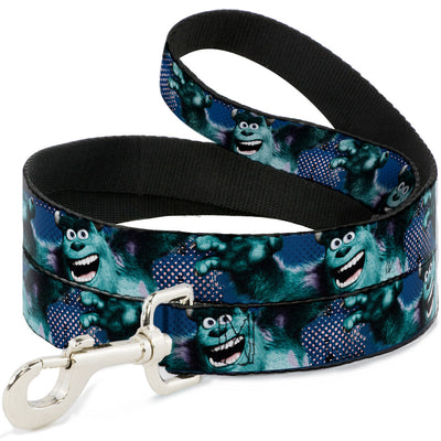 Dog Leash - Sulley Scare Pose/Dots Blues/White