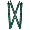 "Suspenders - 1.0"" - SLYTHERIN Crest Stripe2 Green Gray"