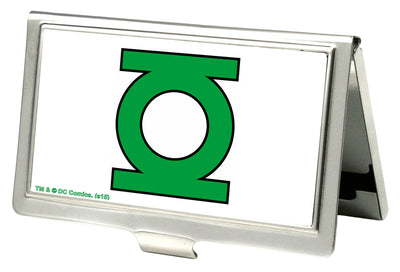 Business Card Holder - SMALL - Green Lantern Logo CLOSE-UP FCG White Green